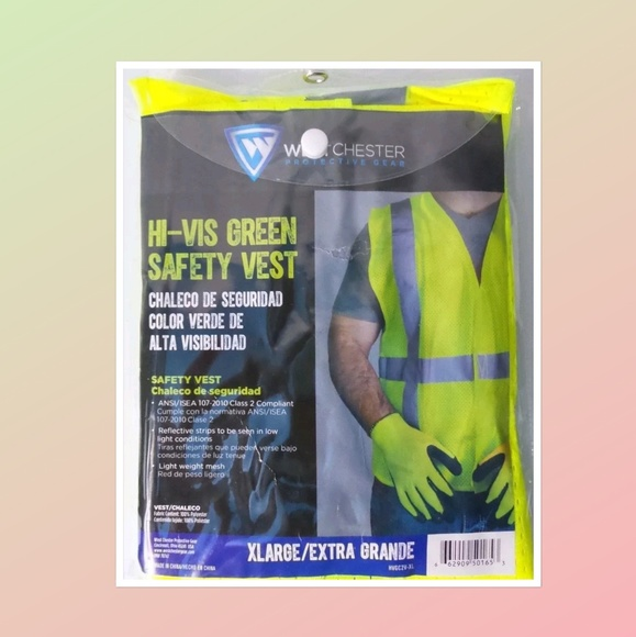 West Chester Other - Neon Reflective High Visibility Safety Vest Work